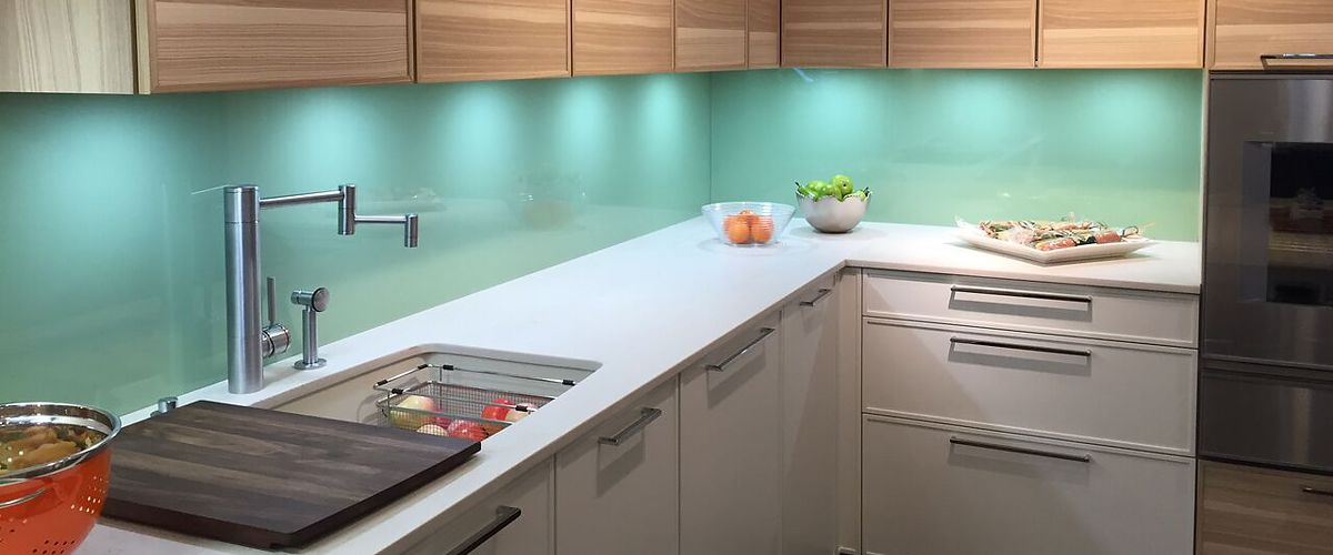 Allstate Glass Contemporary Kitchen Backsplash