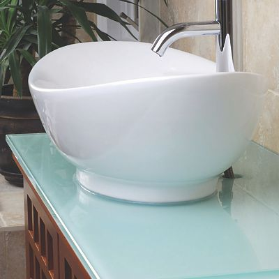 Allstate Glass back-painted glass vanity countertop