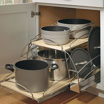 Aristokraft base cabinety with pots and pans pullout