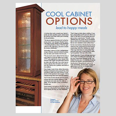 Cool cabinet options article featuring Brandy Souza