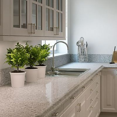 Caesarstone Atlantic Salt quartz countertop