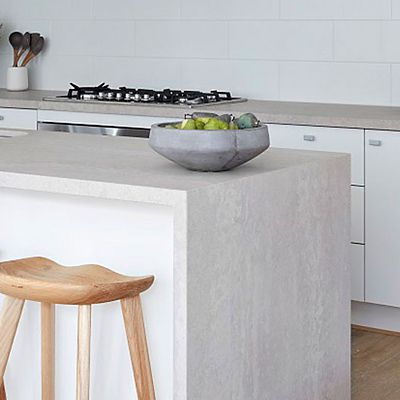 Caesarstone Topus Concrete with waterfall edge