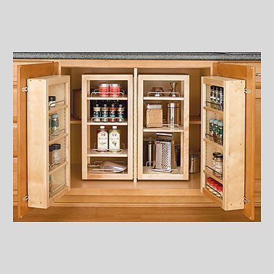 Eastman St. Woodworks pantry storage for base cabinet