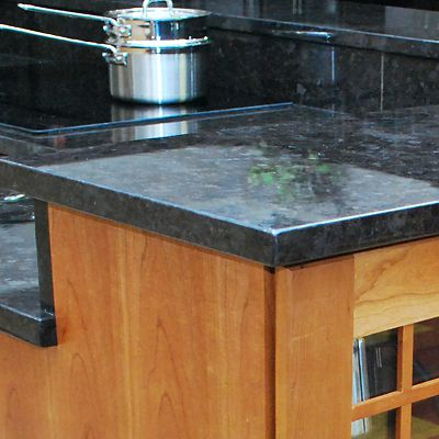 Antique Brown Granite in Kitchen Views Fusion kitchen vignette in Mansfield, MA