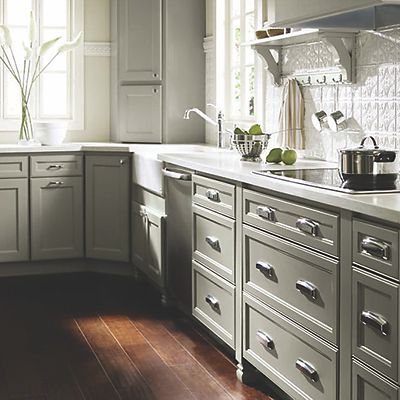 HomeCrest Willow Gray Cabinets