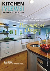 Click for a PDF file of the 2009 fall issue of Kitchen Views' design magazine