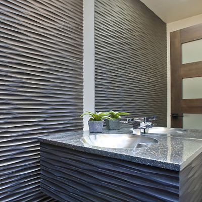 IceStone bathroom vanity Gunmetal Wave