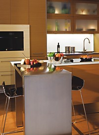 """Green"" kitchen vignette at KVC can be seen in our Custom Portfolio section"