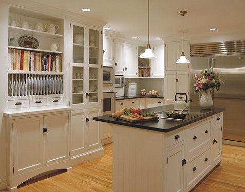White Kitchen Designed By The Kitchen Views Design Team.