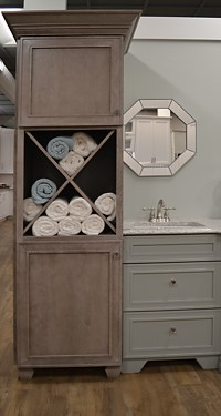 Left storage tower in Beckwith vanity