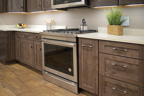 Lower cabinets in Herra Kitchen Vignette at Kitchen Views Newton, MA showroom