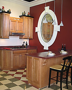 South Coast Kitchen Vignette at Kitchen Views Showroom, New Bedford, MA