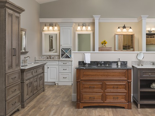 Omega Bathroom Vanities At The Kitchen Views Showroom In Oxford, CT.