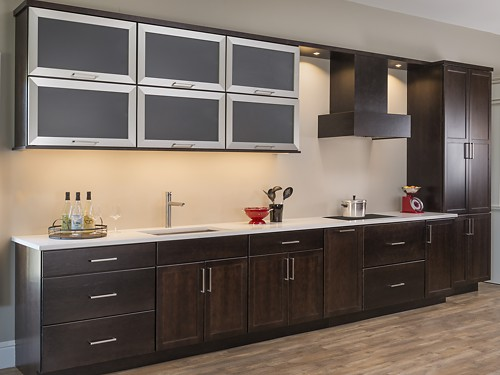 Harper Kitchen with Schrock Trademark kitchen cabinets at the Kitchen Views Showroom in Oxford, CT.