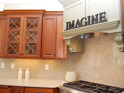 Dynasty by Omega kitchen vignette at the Kitchen Views Showroom in Warwick, Rhode Island.