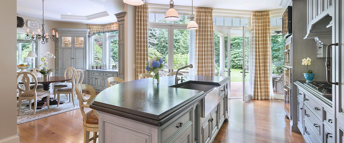 Chestnut Hill, MA dine-in kitchen designed by Brandy Souza