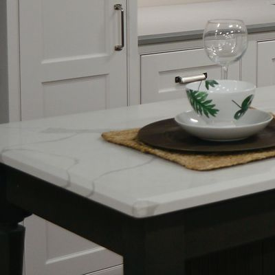 LG Viatera, Color Calacatta Alpha, Island Countertop In Renner Kitchen  Vignette In Newton,