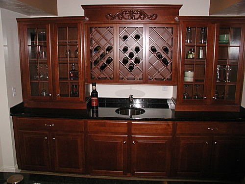 Holliston, MA Wet Bar Designed by Harry Mangsen