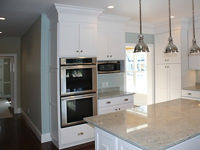 Wall ovens in MA kitchen designed by Jim Marrazzo