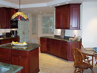 French Doors in Kitchen remodel in Newton, MA designed by Jim Marrazzo