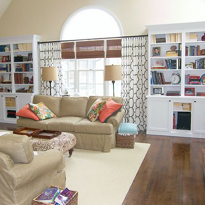 Bookcases With Storage, Mansfield, MA Designed By Amy Mood