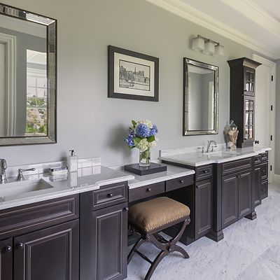 Chestnut Hill, MA master bath designed by Ed Nunes
