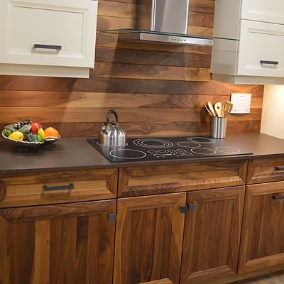 Omega Cabinetry kitchen vignette at Kitchen Views in Newton, MA