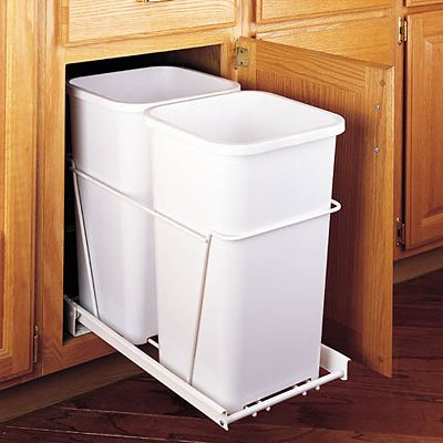 Wire pull-out containers by Rev A Shelf