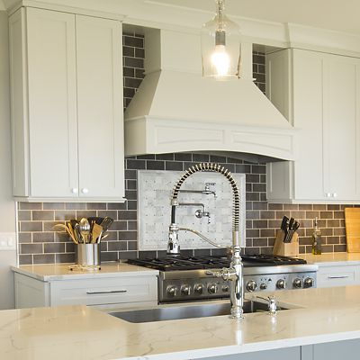Stove area and large sink in island, Ocean Rd, Narragansett, RI
