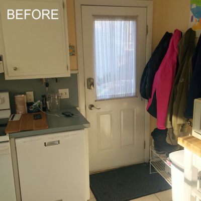 Before - Kitchen door next to stove area in South Kingstown, RI