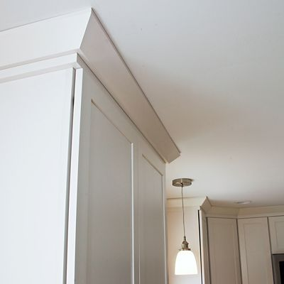 Kitchen cabinet moulding detail in South Kingstown, RI designed by Mary Jane Robillard
