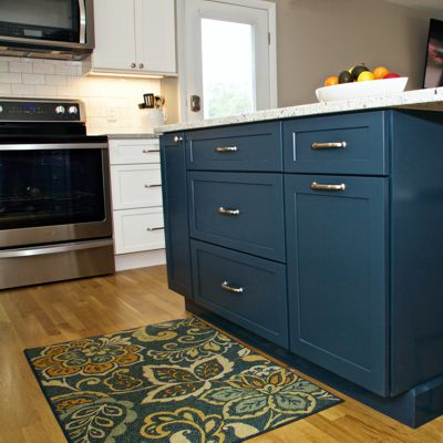 Kitchen island storage side in South Kingstown, RI designed by Mary Jane Robillard