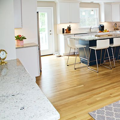 Kitchen living room granite countertop in South Kingstown, RI designed by Mary Jane Robillard