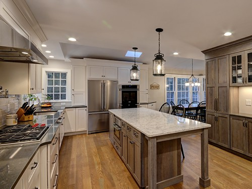 Wide View of Holliston, MA Kitchen Designed by Bob Russo