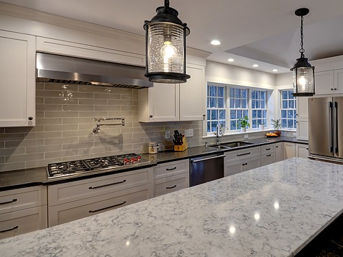 Stove in Holliston, MA kitchen designed by Bob Russo