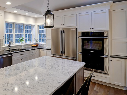 Refrigerator and wall ovens in Holliston, MA designed by Bob Russo
