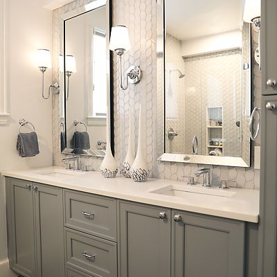 Cambridge, MA Master Bathroom Cabinetry Designed by Bob Russo – View 1