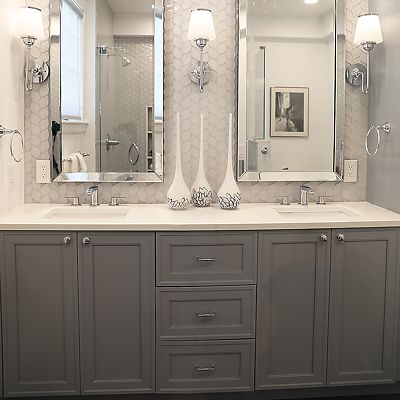 Cambridge, MA Master Bathroom Cabinetry Designed by Bob Russo – View 2