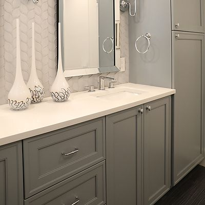 Cambridge, MA Master Bathroom Cabinetry Designed by Bob Russo – View 3