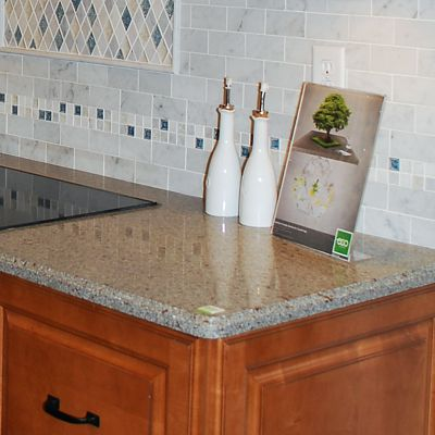 Silestone ECO Riverbed In Schrock Parker Kitchen Vignette In Warwick, RI
