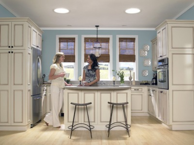 Attractive Small Kitchen With Velux SUN TUNNEL Skylights Amazing Design