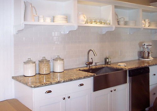 Sink area in Fairhaven, MA kitchen designed by Brandy Souza