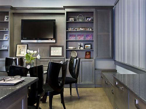 Office renovation in Mansfield, MA designed by Brandy Souza