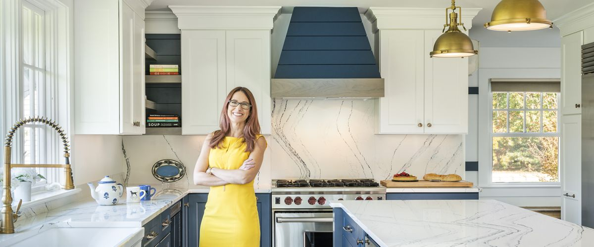 Brandy Souza of Kitchen Views in Marion, MA kitchen she designed