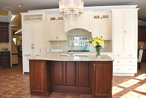 Greenfield kitchen vignette at the Warwick, RI kitchen showroom designed by Brandy Souza
