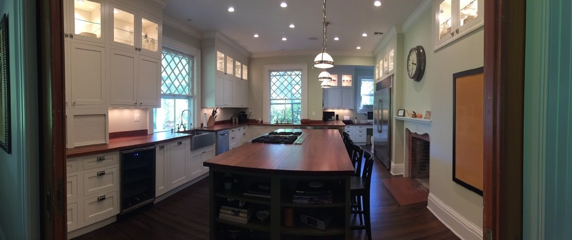 Sprague custom cabinets and wood countertops