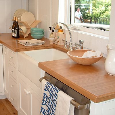 Teragren bamboo countertop in Sunset Magazine Retreat House