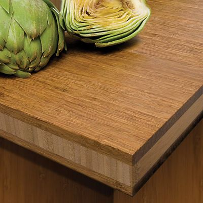 Teragren strand bamboo countertop close-up