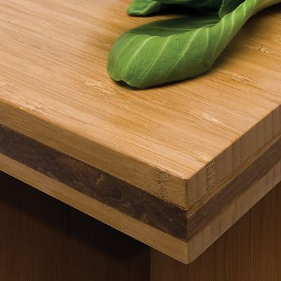 Teragren traditional bamboo countertop close-up