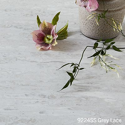 Wilsonart grey lace solid surface countertop